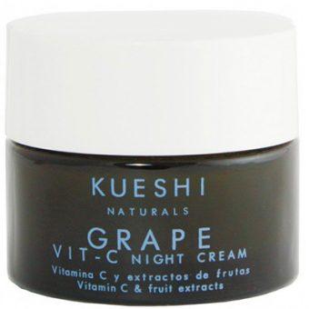 Crema de noche Uva y vitamina C Kueshi